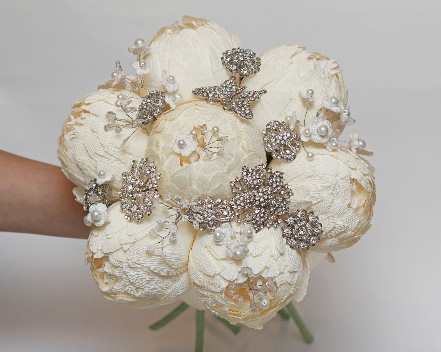 Wedding Bouquet Brooch Bouquet Bridal Bouquet Bridesmaids Etsy