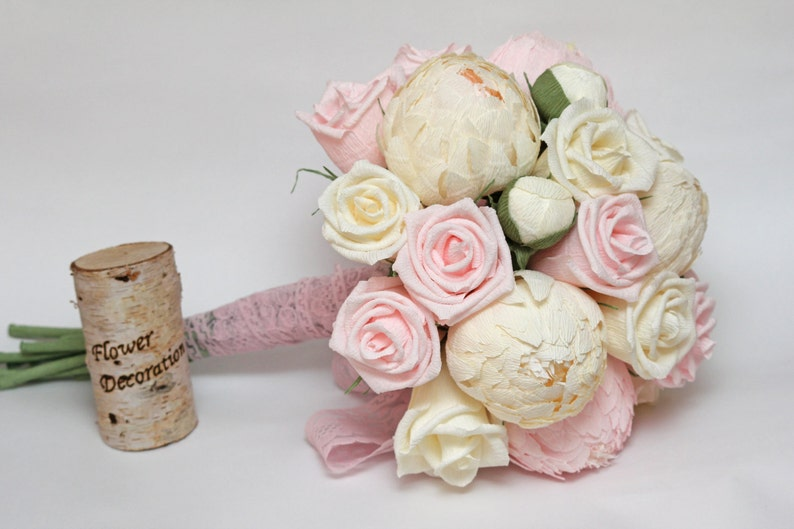Wedding Paper Flower Bouquet image 0