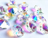 10 14 mm transparent glass octagonal crystal beads for Feng Shui pendant or jewelry