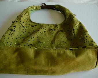 """Big Buddha of Santa Barbara Handbag - """"Artful and Green"""""""