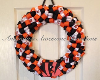 Cincinnati Bengals Wreath; Weekend Sale; Gifts for Him; Gifts for Her; Gifts Under 50