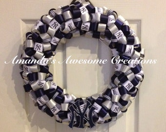New York Yankees Wreath; Weekend Sale; Gifts for him; Gifts for her; Gifts Under 50