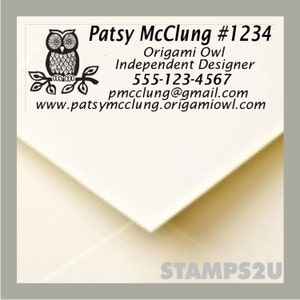Origami Owl  Designer Pre Inked stamp to use for your invoices and Catalogs 2770--No Separate Ink Pad---STOP USING LABELS