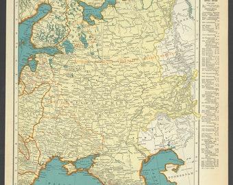 Eastern europe map | Etsy