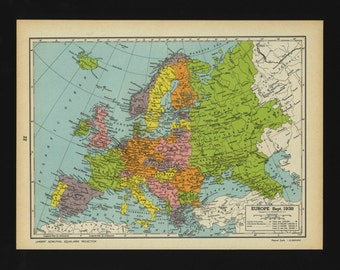 1938 map of europe | Etsy