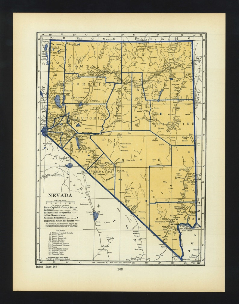 Vintage Map Nevada Original 1938 on map of boomtown nevada, map of nevada usa nuketown, map of wyoming cities and towns, map of nevada minerals, map of sierra nevada mountains, detailed map nevada, map of active mines in nevada, lovelock nevada, map of boston and surrounding towns, map of nevada county california, map of nevada reno sparks, show me a map of nevada, map of nevada counties, map of northern nevada, google maps nevada, map of california nevada border, map california-nevada arizona, map of north nevada, driving map of nevada, map of grand canyon nevada,