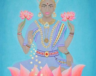 Lakshmi - Original - Acrylic & Swarovski crystals