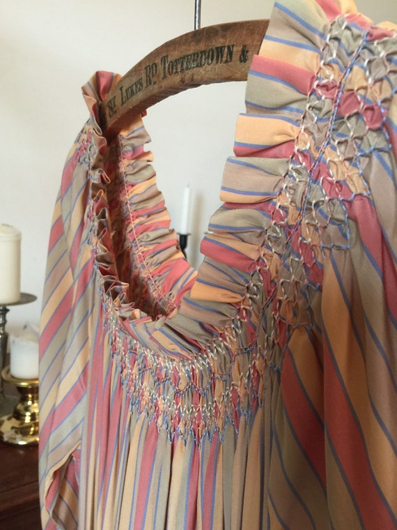 Vintage 1980s Silk Stripe / Anna Belinda / Hand Ma