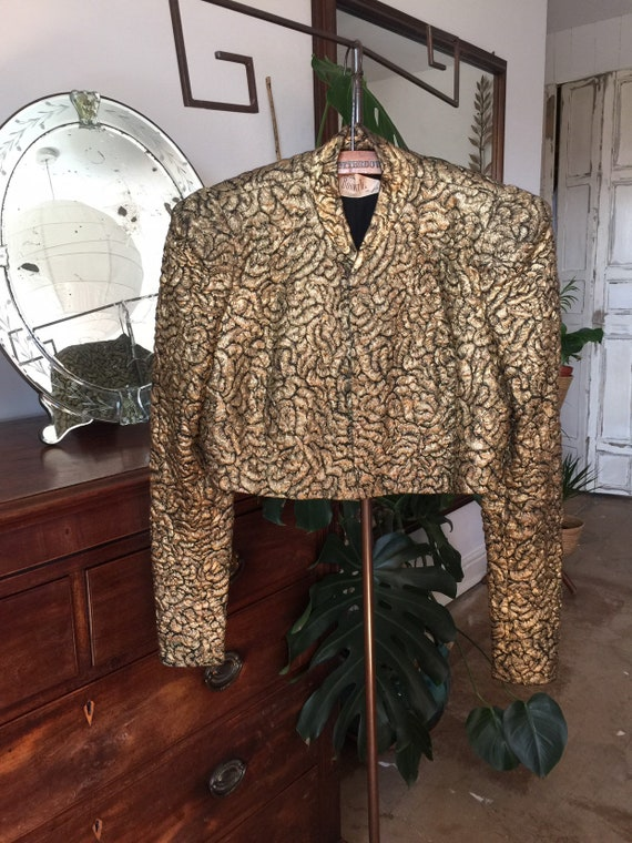 1930s Cropped Gold Lame Rock Star Jacket
