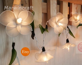 Merveilleux White Frangipani String Lights Flower Fairy Lights Bedroom Home Decor  Living Room Wall Hanging Lights Decor Dorm Lights Spa Battery Or Plug