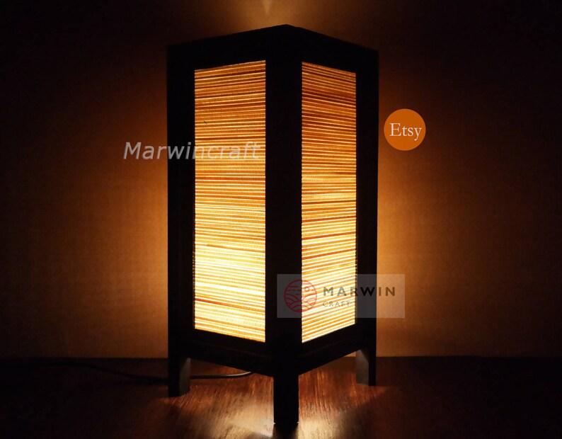 Asiatique Oriental Bambou Japonais Lampe Zen Chevet Lampe Sol | Etsy