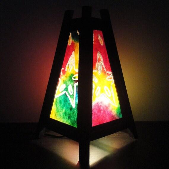 Asiatique Oriental Dream Multi Couleur Star Batik Zen Art Chevet Sol Table  Lampe Bureau Papier Lumière ...