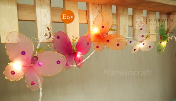 Limited Multi String Lights Butterfly Fairy Lights Bedroom Etsy - Butterfly lights for bedroom