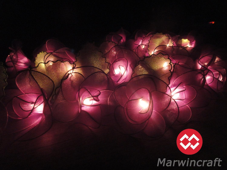 20 Purple String Lights Rose Flower Fairy Lights Bedroom