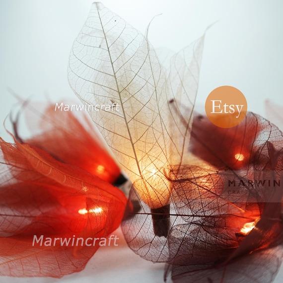 20 Earth String Lights Bodhi Leave Flower Fairy Lights Bedroom Etsy