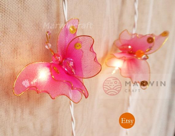 20 Multi String Lights Butterfly Fairy Lights Bedroom Home Decor Living  Room Wall Hanging Lights Wedding Decor Dorm Lights Kid Battery Plug