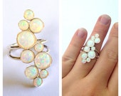 Sterling Silver and Opal Statement Ring
