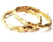 Molten Brass Bangle