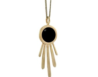 Burst Necklace with Black Onyx