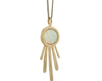 Burst Necklace with Opal