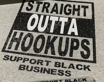 Straight OUTTA Hookups T-shirt & Pen set