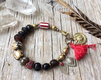 Bohemian bracelet, yoga bracelet, bohemian jewelry, tribal hippie jewelry, gift for her