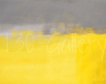 Digital Download - A Simple Abstract, Grey and Yellow Abstract Artwork