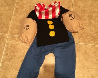 Popeye popeye the sailor costume OOC pageantwear baby toddler newborn 3 69. 1218 24 months 2t 3t 4t & Popeye costume   Etsy