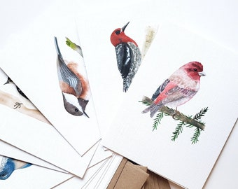 Birds of the Pacific Northwest 2.0 - Blank Greeting Cards - Boxed set of 12 - A2 Size - choose quantity
