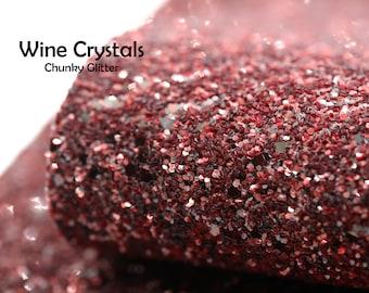 Wine Crystal Chunky Glitter