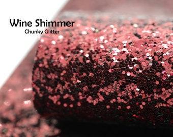 Wine Shimmer Chunky Glitter