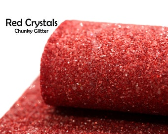 Red Crystal Chunky Glitter