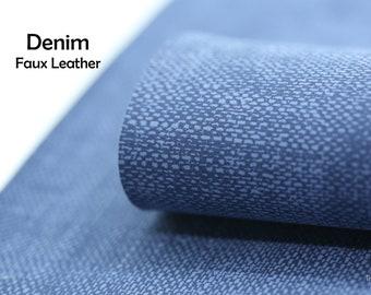 Denim Faux Leather