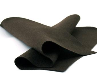 """Wool Felt Sheet - 100% Wool Felt in Color COFFEE - 18"""" X 18"""" Wool Felt Sheet - Pure Wool Felt"""
