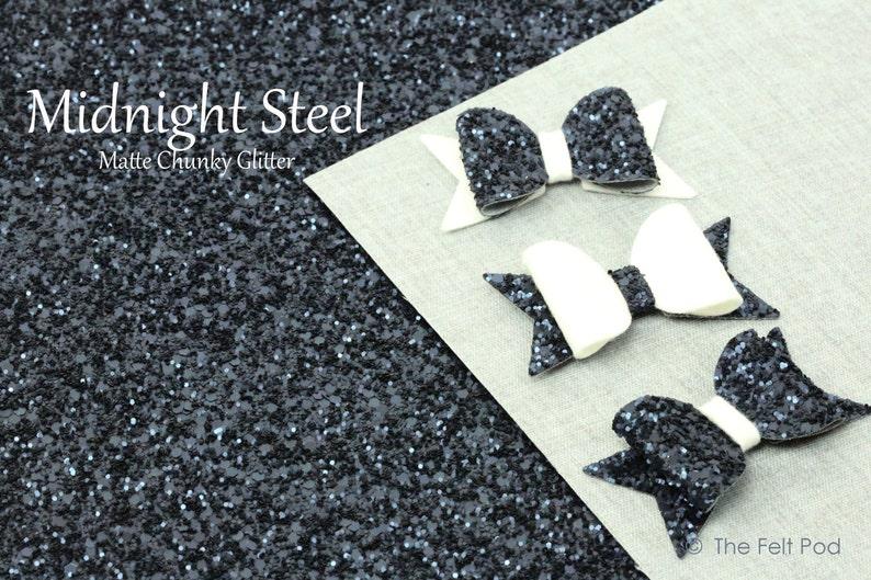 Chunky Glitter Fabric Sheet  New Bigger Size 9 X image 0
