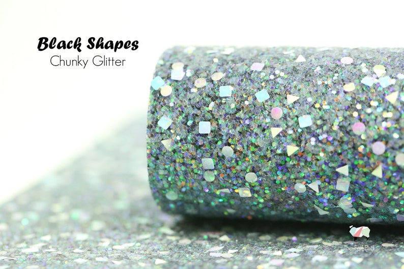 Chunky Glitter Fabric Sheet Shapes Collection