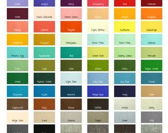 "100 Percent Wool Felt Sheets -  5 Sheets of 8"" X 12"" Felt - You Pick Color - Merino Wool Felt - European Wool Felt"