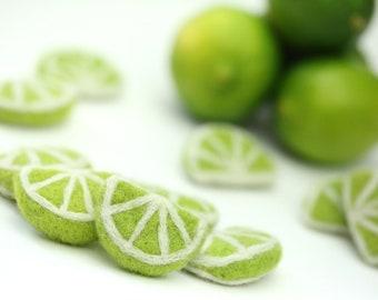 Felt Limes // Felt Summer Fruits // Felt Lime Slices