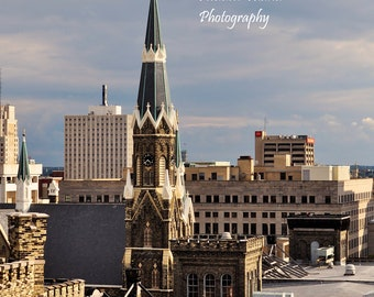 Trinity Lutheran 3 in 8x10 or 11x14, Fine Art photography, Milwaukee, WI, taken from the Historic Pabst Brewery site