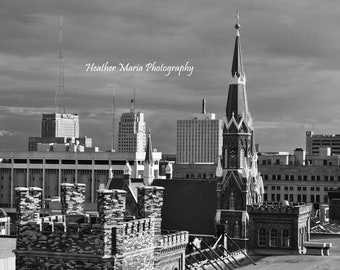 Trinity Lutheran 2 in Black and White from the Historic Pabst Brewery site 8x10 fine art photo