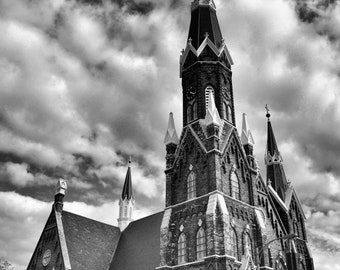 Trinity Lutheran Church Milwaukee, WI Fine Art Photography Black and White Photo