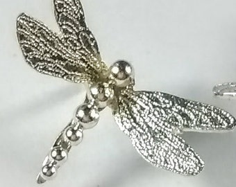 Silver dragonfly earrings, dragonfly studs, 925 handmade studs