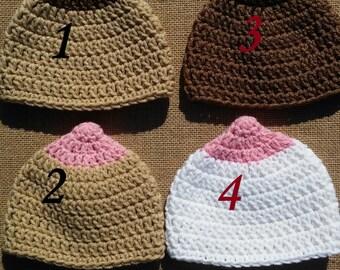 46ddb3bdfbb Crochet boob hat
