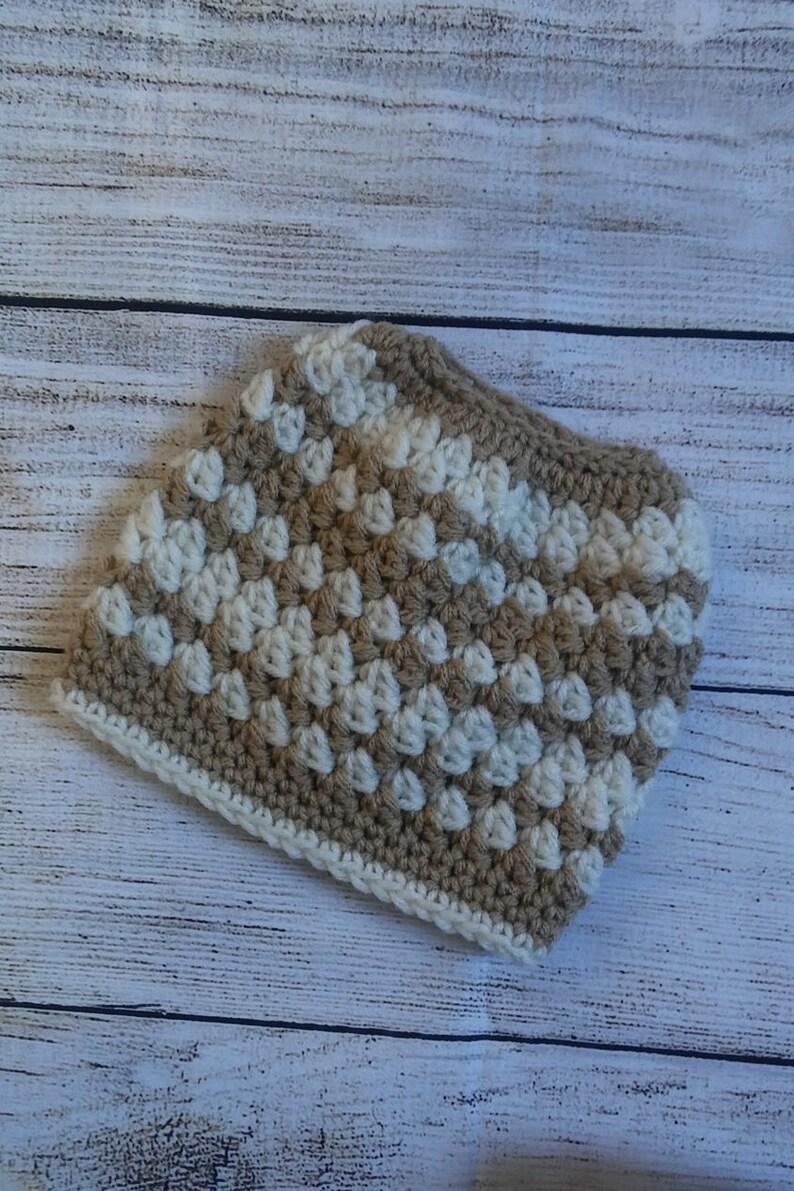 Messy Bun Hat Messy Bun Beanie Womans or Teen messy Bun Beanie Crochet hat Ear Warmer Teen Messy bun hat kids messy bun hat toddler ponytail