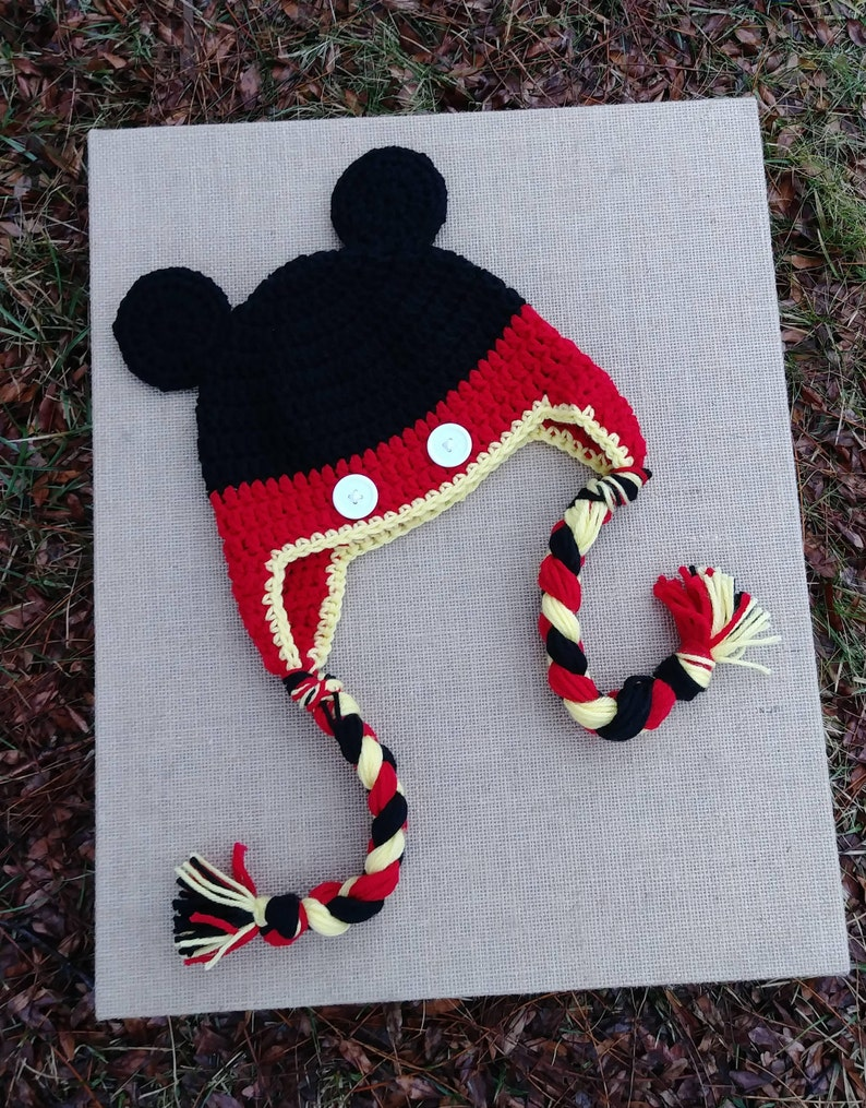 fbb9376607a0d6 Mickey Mouse inspired hat Newborn Mickey Photo Prop Disney | Etsy