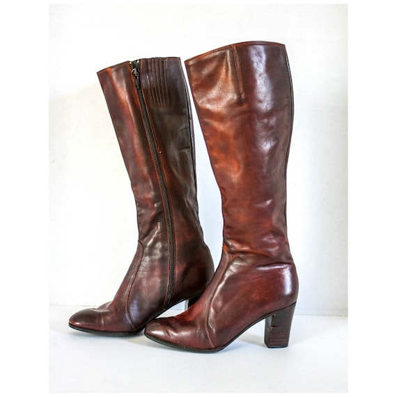 Vintage Edouard Jerrold Boots Made In Greece Brown