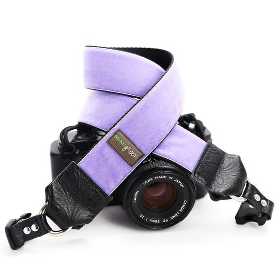 Mimi Green Diego Blue Velvet DSLR Camera Strap