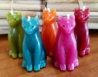 Beeswax Cat Candle, Pick a Color