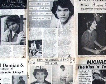 MICHAEL DAMIAN ~ The Young and the Restless, Rock On, She Did It, Danny Romalotti ~ B&W Articles from 1980-1981 - Batch 1