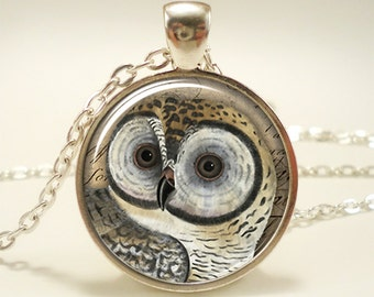 Owl Necklace, Woodland Forest Animal Jewelry (1638S1IN)